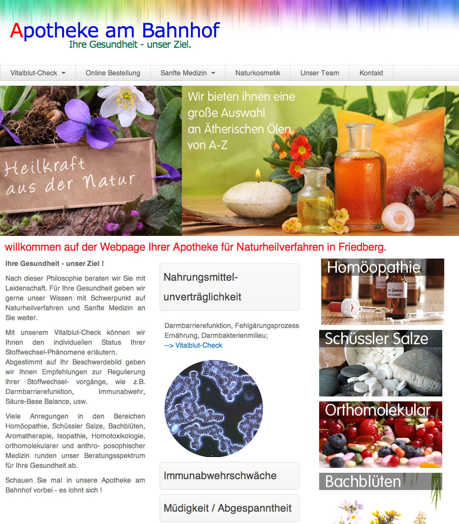 webdesign-5steps-online Apotheke-am-Bahnhof screenshot2
